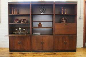 Mid Century Danish Modern Walnut Wall Unit Shelves