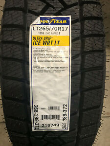 1 New Lt 265 70 17 Lre 10 Ply Goodyear Ultra Grip Ice Winter Snow Tire