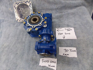 Motovario Sw030 63 Worm Gear Speed Reducer 1500 1 Ratio Gearbox 11mm In 25mm Out