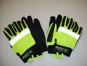 2 Wells Lamont Mechpro High vis Linebacker Gloves Size Large 2 Pairs