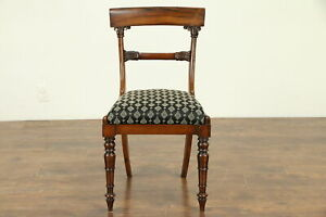 Rosewood Antique English 1825 William Iv Dining Desk Or Side Chair 30760