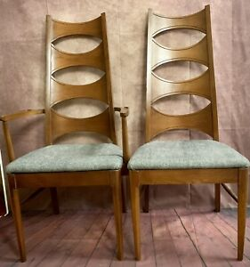2 Mid Century Vintage Chairs Danish Wood Coffey Perspecta Dining Arm Desk Accent