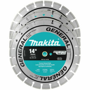 Makita A 94932 3pk 14 Segmented Diamond Saw Blade General Purpose 3 Pack New