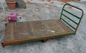 Antique Iron Age Fairbanks Industrial Factory Warehouse Mercantile Cart