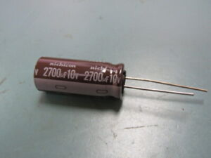 Nichicon Upl1a272mhh Qty Of 100 Per Lot Cap Alum 2 7mf 10v 20 Aluminium Elect