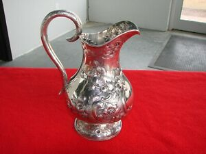 Early American Coin Silver Water Pitcher By Bailey Co 16 9 Oz