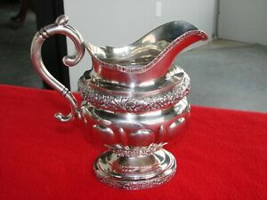 Early American Coin Silver Pitcher By G B New York 16 1 Oz