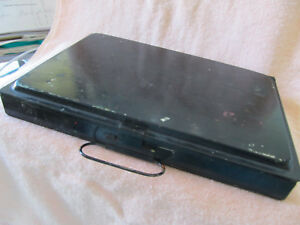 Vintage Wwi Era 100yr Old 20th Century Black Metal Artist S Field Paint Box