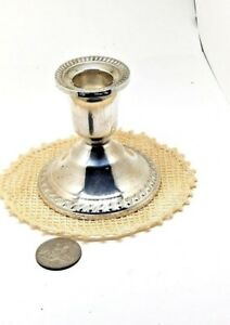 Duchin Creation Sterling Silver Antique Weighted Console Candlestick 1 Holder