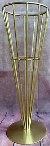 Cone Cage Mid Century Brass Rod Umbrella Stand Carl Aubock Metal Vintage Holder