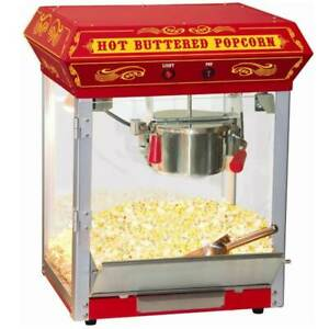 Funtime Carnival Style 4 Oz Hot Oil Popcorn Machine In Red id 166865