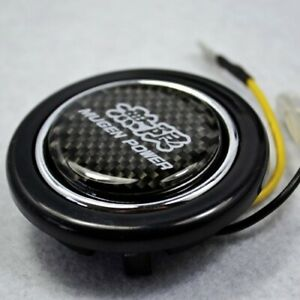 Carbon Fiber Emblem Abs Steering Wheel Horns Button For Honda Civic Accord