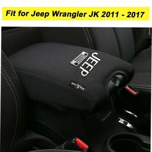 Pu Leather Center Console Armrest Cover Pad For Jeep Wrangler Jk Protects Black