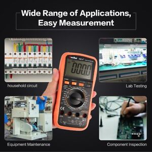 9807a Digital Multimeter True Rms Ac dc Volt Amp Ohm Diode Frequency Tester Ws