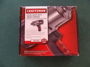 Craftsman 3 4 Inch Drive Heavy Duty Pneumatic Air Impact Wrench Gun 19985