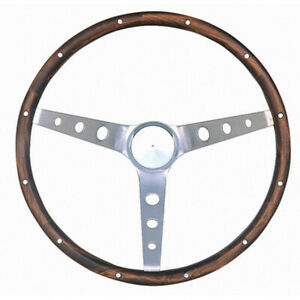 Grant 966 0 Brushed Stainless 15 In Classic Nostalgia Steering Wheel