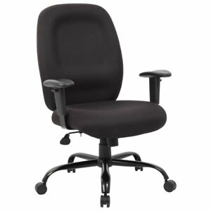Boss Office Big And Tall Swivel Office Chair In Black