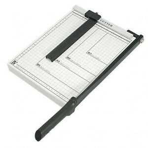 Paper Cutter 10 X 10 Inch Metal Base Trimmer guillotine Type