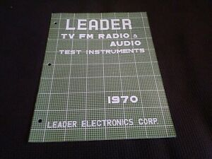 1970 Leader Electronics Test Equipment Catalog Radio Audio Television