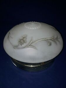 Vintage Ceiling Light Fixture Lamp Frosted And Clear Glass