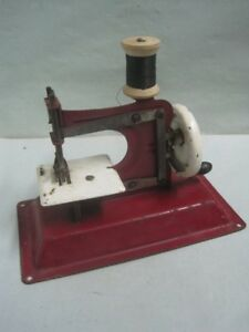 Antique Toy Child Sewing Machine In Tin