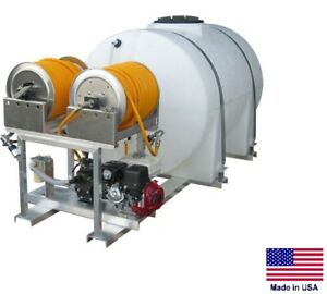 Sprayer Commercial Skid Mounted Dual User 15 Gpm 560 Psi 535 Gallon Tank