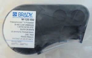 Brady M 120 492 Label Maker Cartridge 1 2 X 1 For Bmp51 bmp53 55 New
