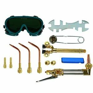 12pcs Oxy Acetylene Welding Cutting Torch Kit Gas Welder Set With Goggles