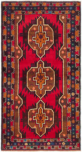 Hand Knotted Carpet 3 6 X 6 9 Traditional Vintage Wool Rug