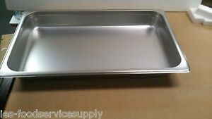 lot Of 6 Full Size 2 Deep Stainless Steam Table Pans Food Pan Hot Table 24 Ga