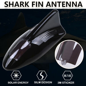 Black Car Shark Fin Antenna Fm Am Connection Cable Led Warning Light Remote
