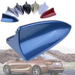 Blue Dummy Shark Fin Roof Mount Decorative Aerial Antenna Decoration Universal