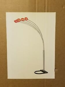 Vintage 1980 S Mid Century Modern Style 5 Light Floor Lamp New In Box