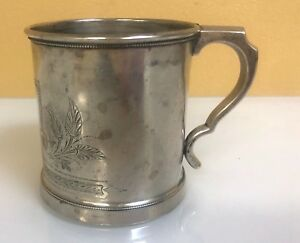 Krider Biddle Antique Sterling Silver Child Mug With Engraving