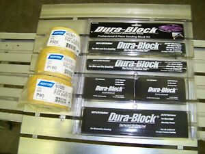 Dura Block 6 Piece Pro Sanding Blocks Norton Sand Paper Kit