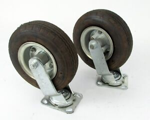 Lot Of 2 Durable Superior Casters Swivel Caster 8 X 3 Rubber Tire