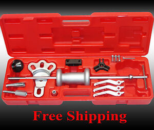Heavy Duty Slide Hammer And Puller Set 16 Pc 8 Way 5lbs