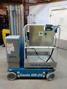 2009 Genie Gr20 Vertical Lift Scissor Lift Man Lift Low Hours