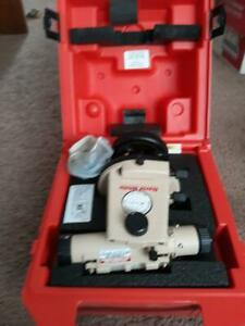 David White Lt8 300p Transit Level Optical Plummet With Case And Manual