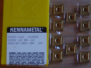 10 Pcs Cnmg 433 Kennametal Kc850 Carbide Inserts