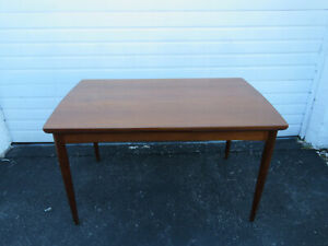 Danish Mid Century Modern Teak Draw Leaf Dining Room Table 9573