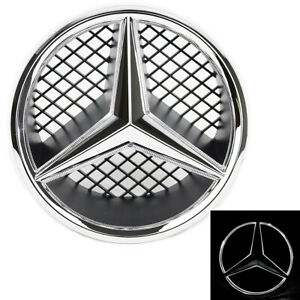 Illuminated Led Light Front Grille Star Emblem Badge For 06 13 Mercedes Benz