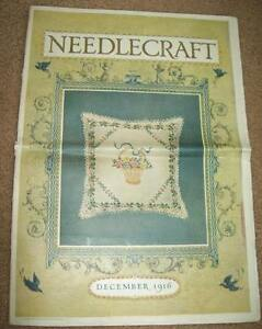 Dec 1916 Needlecraft Magazine Teacloth Christmas Gifts Lingerie Crochet Fashion