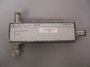 6802 Hp 779d Directional Coupler 1 7 12 4 Ghz 20 Db Mean Coupling