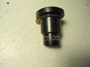 Kodak Optical Comparator Lens 31 25x Rc3 268