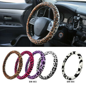 Soft Push Animal Print Steering Wheel Cover For Car Truck Suv Various Colors