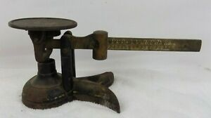 Vintage Fairbanks Cast Iron Brass 16 Ounce Candy Scale