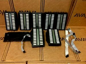 Lot Of 7 Nortel Northern Telecom Nt2k22xh03 22 Button Keylamp Expansion Module