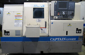 2002 Okuma Captain l370mw Big Bore Cnc Lathe W Live Tooling Sub spindle