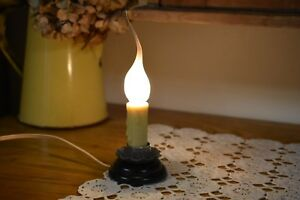 New Primitive Country Farmhouse Electric Candle Lamp Home Decor